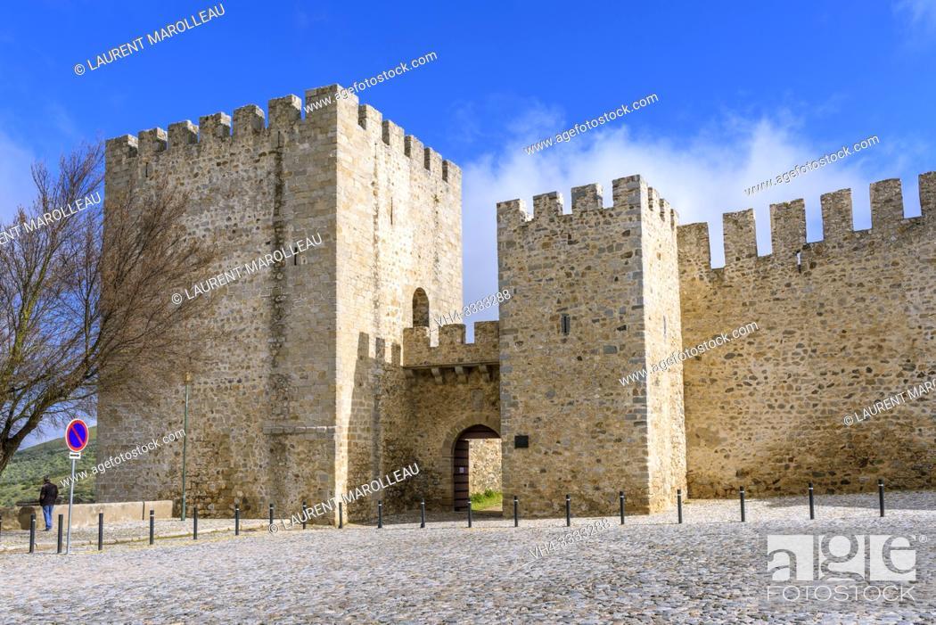 Stock Photo: The Castle of Elvas, Garrison Border Town of Elvas and its Fortifications, Portalegre District, Alentejo Region, Portugal, Europe.