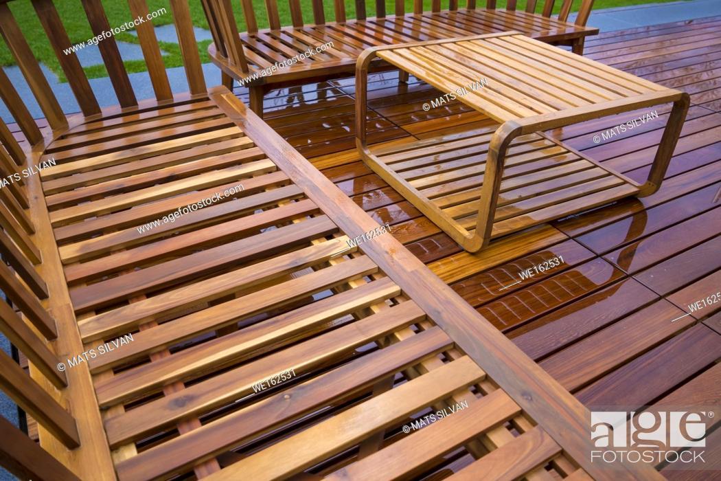 Photo de stock: Wood Furniture in Switzerland.