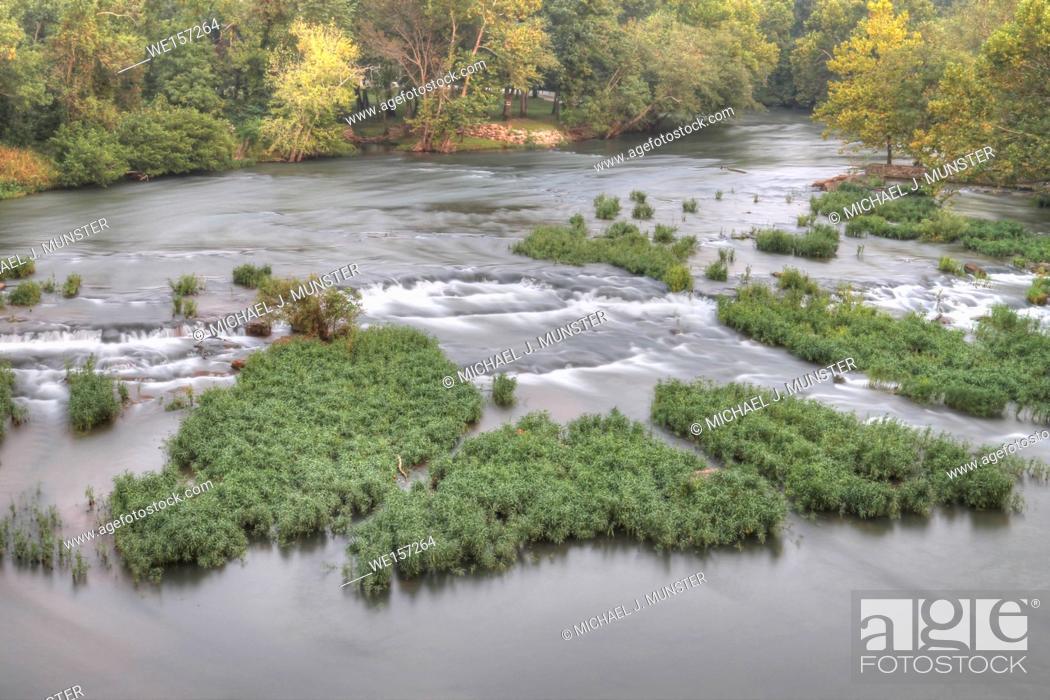 Stock Photo: Shoal Creek in Joplin, Missouri.