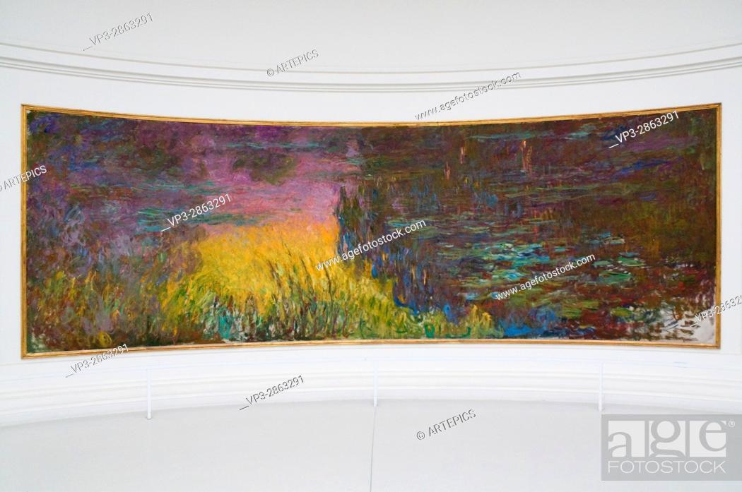 Stock Photo: Claude Monet. Les Nymphéas. XIX - XX th Century. Paris Orangerie Museum.