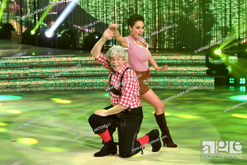 Stock Photo: Antonio Razzi during the performance at the talent show ' Ballando con le stelle ' (Dancing with the stars) Rome, ITALY-14-04-2019.