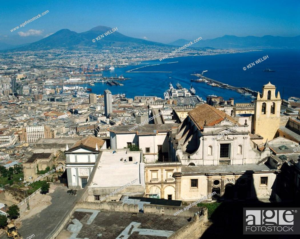 Stock Photo: Naples and Vesuvius in background. Italy.