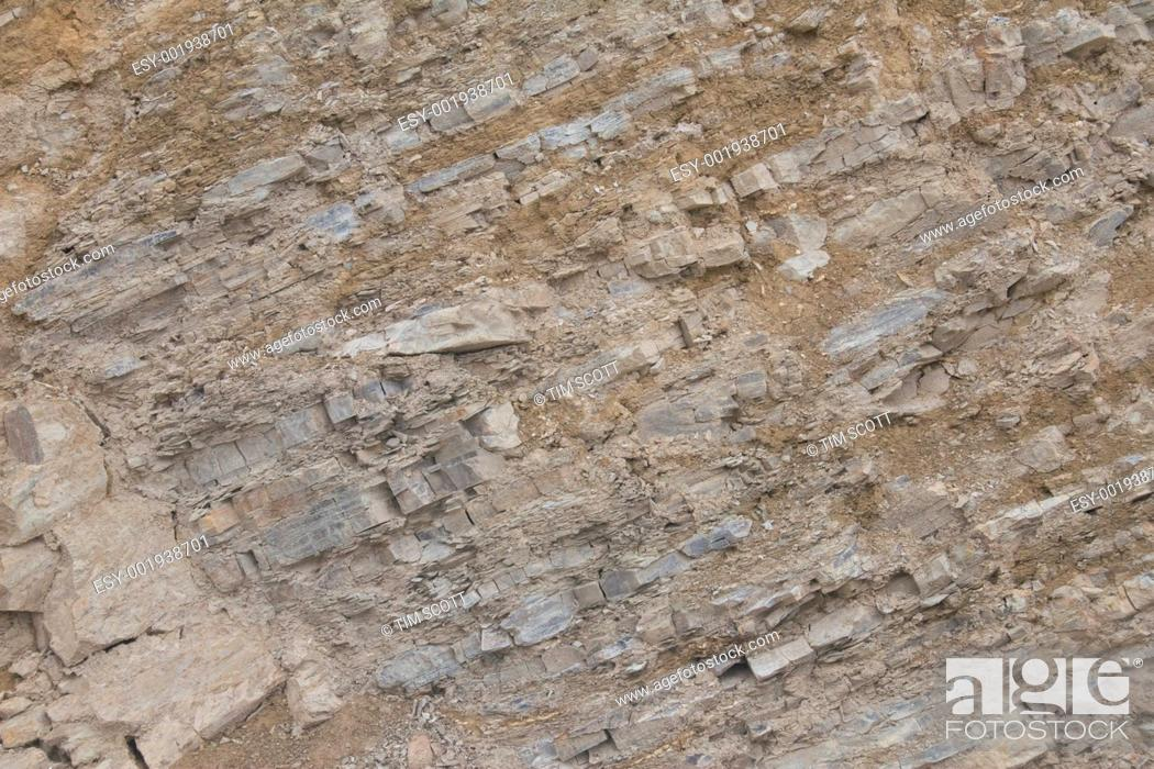 Stock Photo: Geological striations.