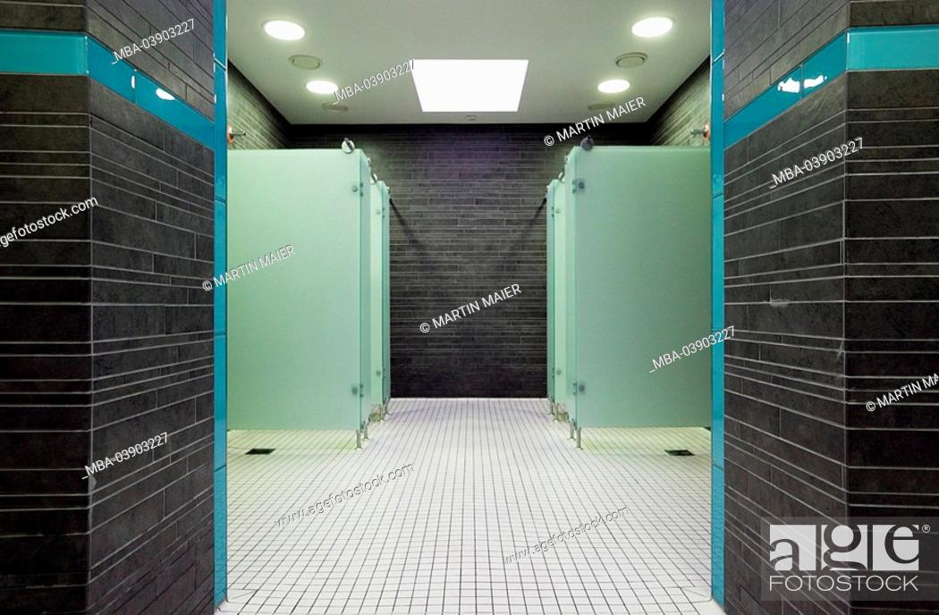 indoor swimming pool, shower-area, deserted, swimming pool, wet ...