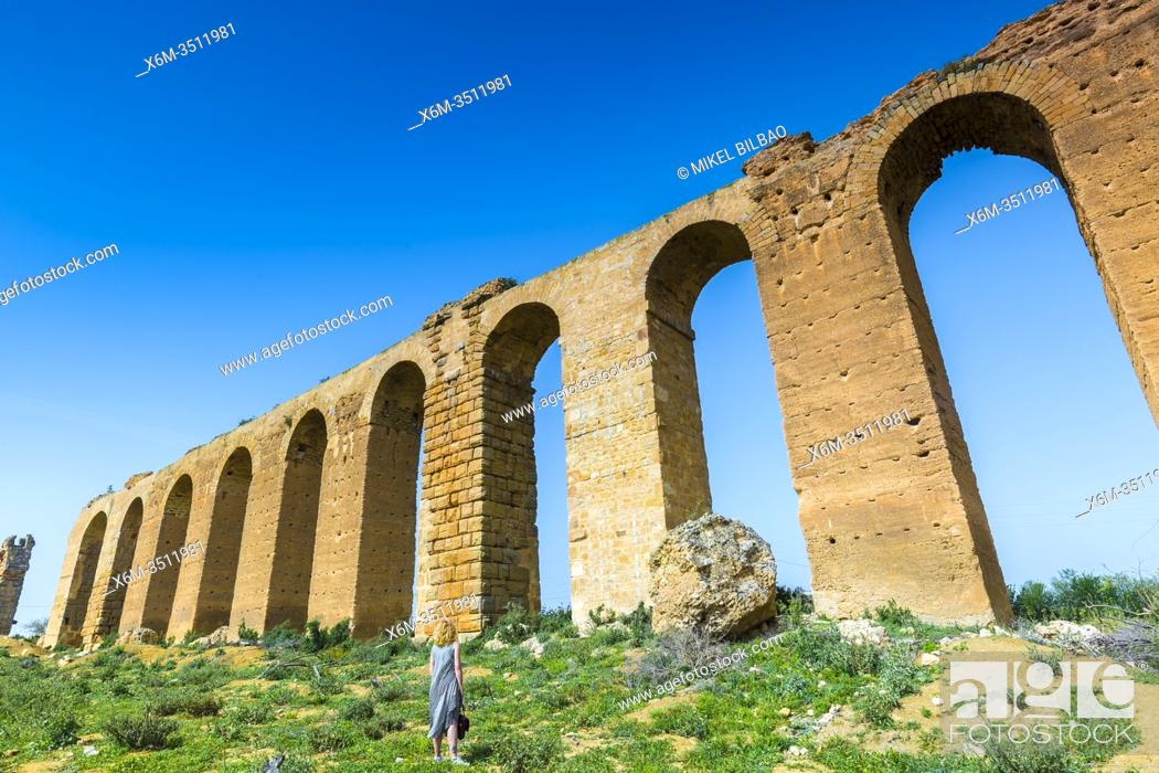 Imagen: Zaghouan Aqueduct or Aqueduct of Carthage. Tunisia, Africa.