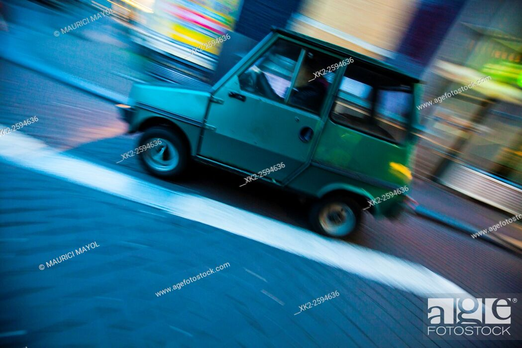 Stock Photo: Old retro car style, Amsterdam, THe Netherlands.
