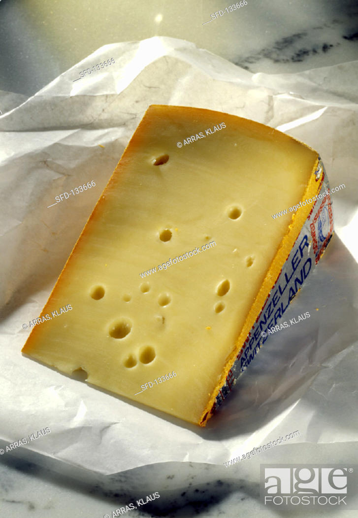 A Wedge Of Appenzeller Cheese Stock Photo Picture And