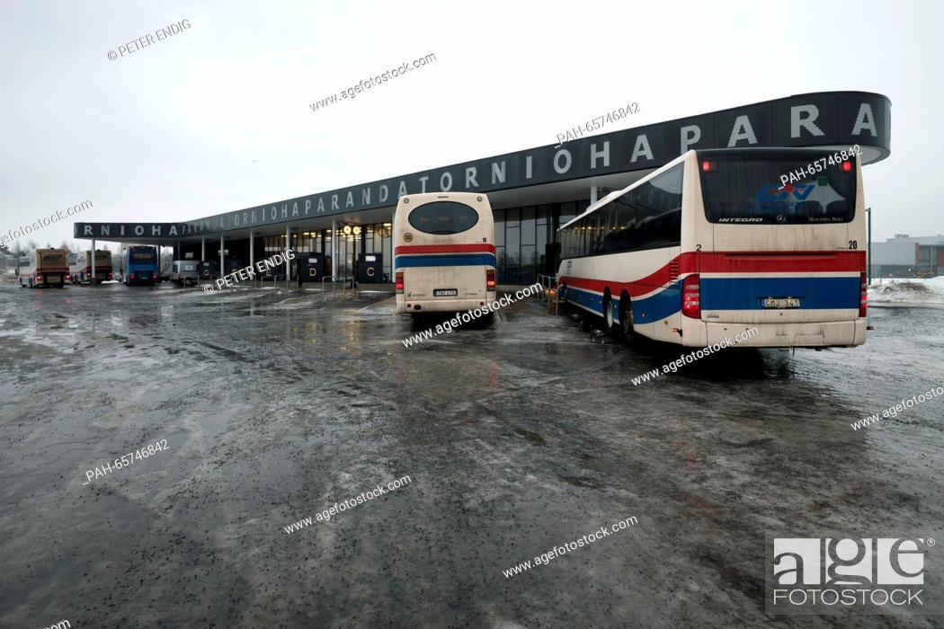 The bus station in Haparanda, Sweden, 09 February 2016  Photo: PETER