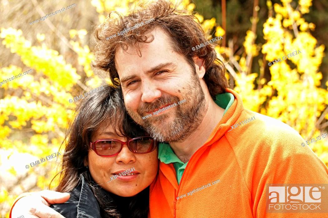 Stock Photo: Ethnic couple.