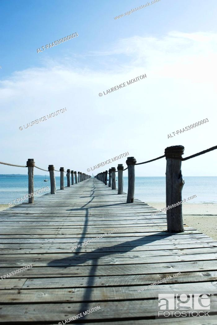 Stock Photo: Wooden pier, Zanzibar, Tanzania.