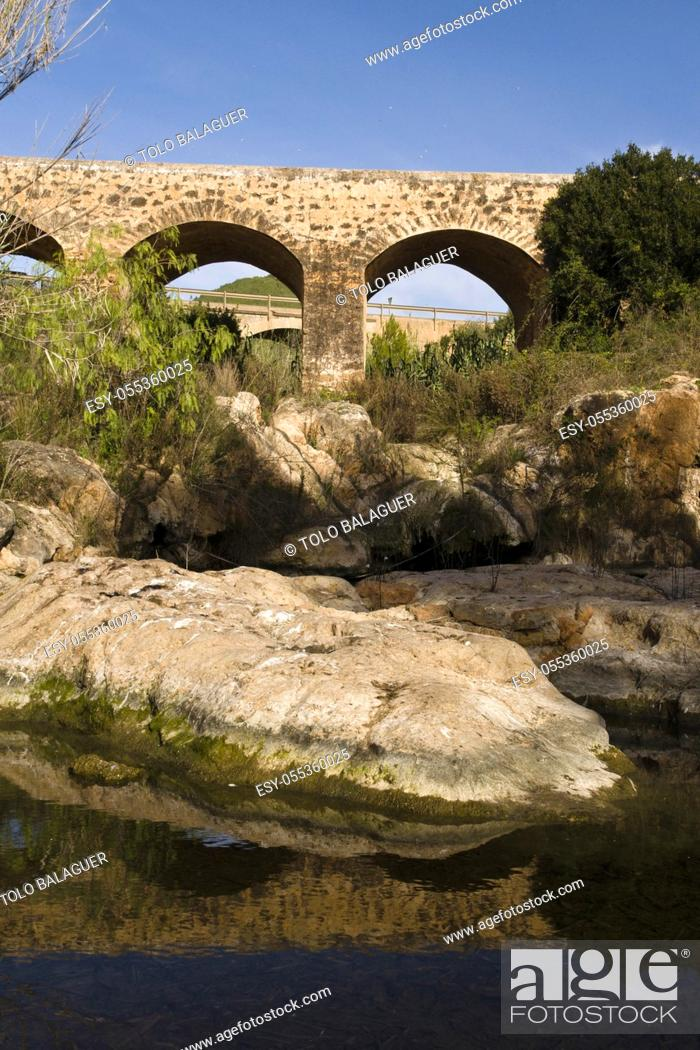 Stock Photo: Pont Vell. Rio de Santa Eulària. Santa Eulària des Riu. Ibiza. Balearic islands. Spain.