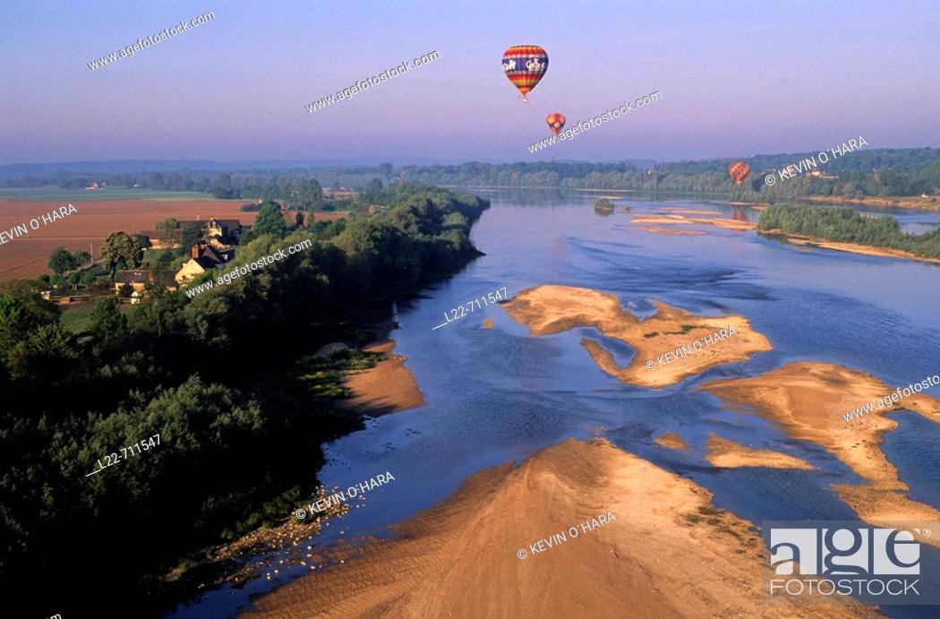 Stock Photo: Loire river. Loir-et-Cher. Centre region. France.