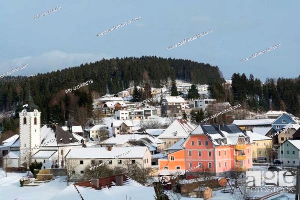 Stock Photo: Gemeinde Vorderweissenbach im Winter.