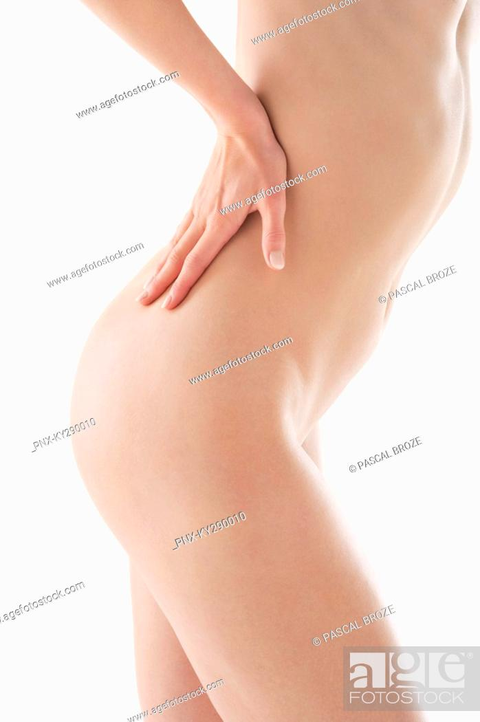 Stock Photo: Mid section view of a naked woman.