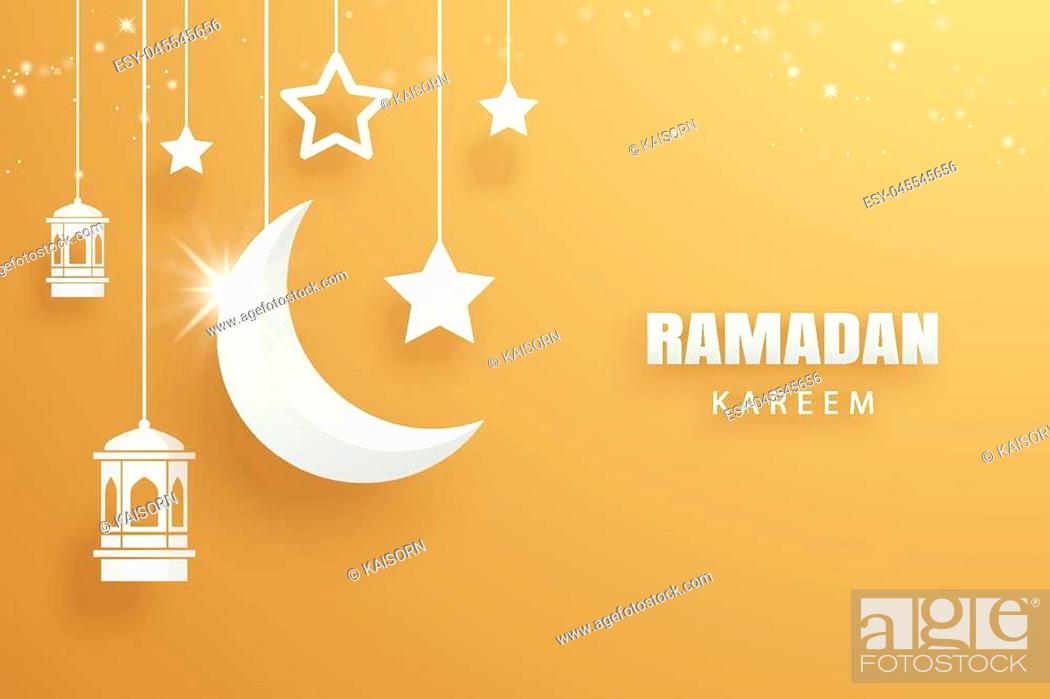 ramadan kareem greeting card moon and stars traditional lanterns gold background stock vector vector and low budget royalty free image pic esy 045545656 agefotostock https www agefotostock com age en stock images low budget royalty free esy 045545656