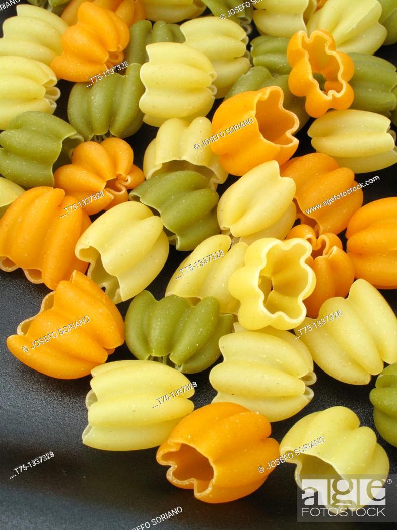 Stock Photo: Pasta, tulips.