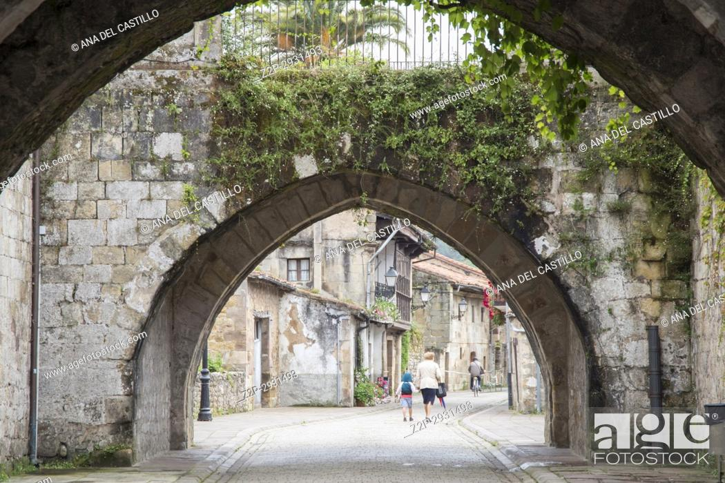 Stock Photo: Cartes is a medieval village in Cantabria Spain on June 30, 2017.
