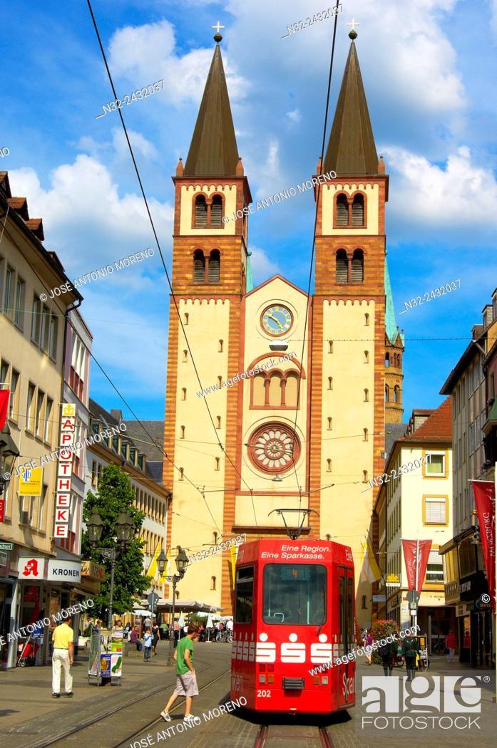 Stock Photo: Würzburg, Cathedral of St. Kilian, Wuerzburg Cathedral, UNESCO World Heritage Site, Romantische Strasse, Romantic Road, Franconia, Bavaria, Germany, Europe.