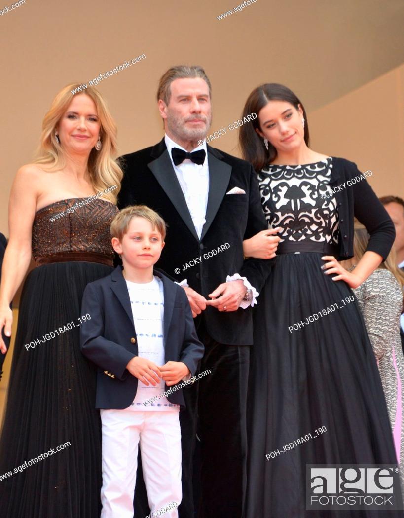 John Travolta with wife Kelly Preston and kids Ella and