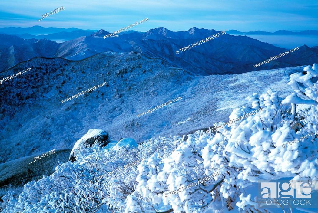 Stock Photo: Mt  Deogyusan National Park,Jeonbuk,Korea.