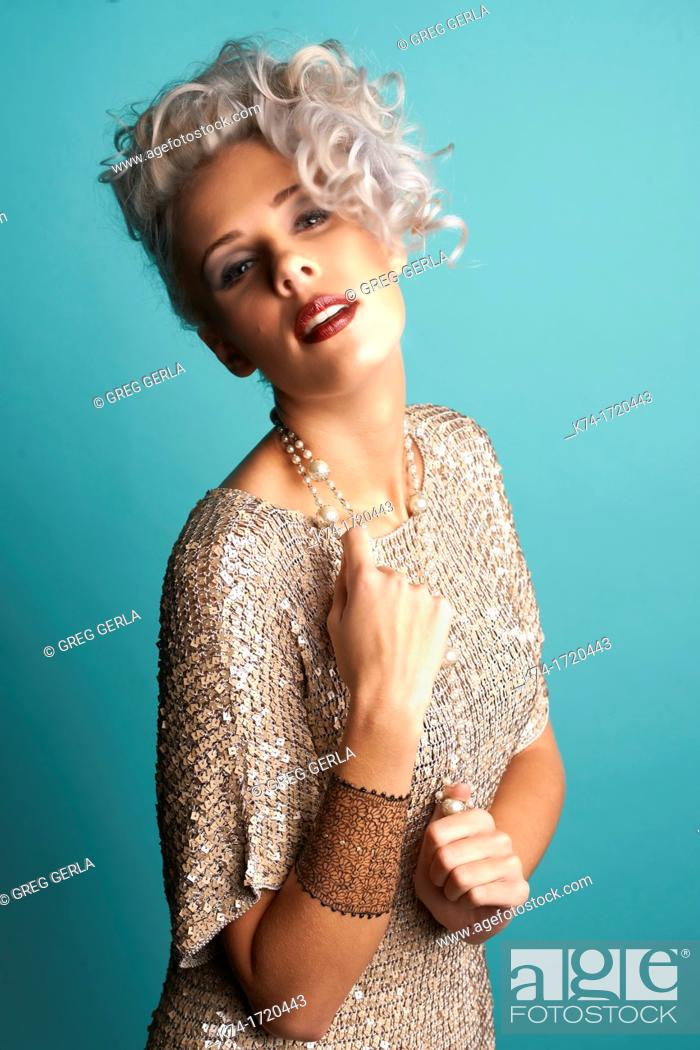 Stock Photo: fashion image of girl.