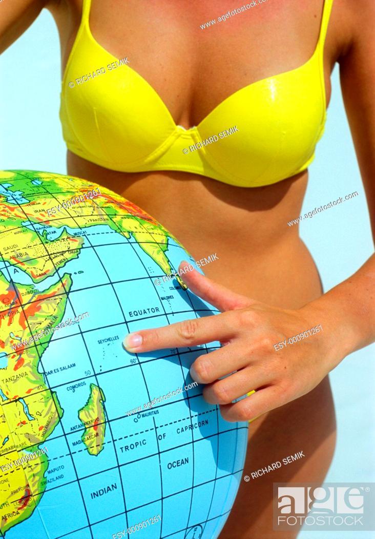 Stock Photo: beach ball.