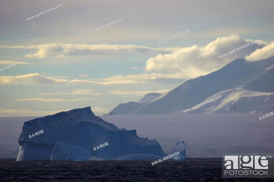 Stock Photo: Iceberg near Adelaide Island, Antarctica, Antarctic Peninsula.