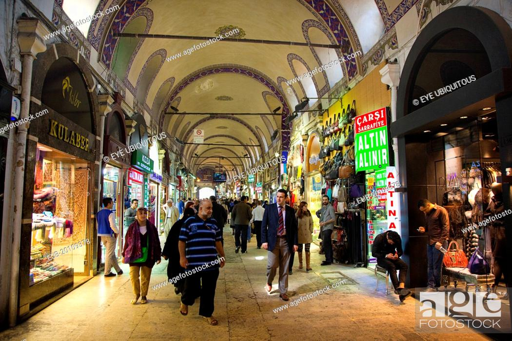 Stock Photo: Fatih, Sultanahmet, Kapalicarsi, Grand Bazaar interior.