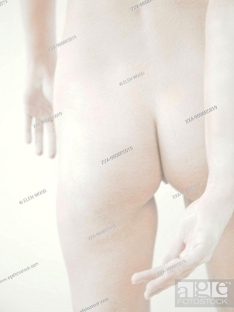 Stock Photo: Womans bottom.