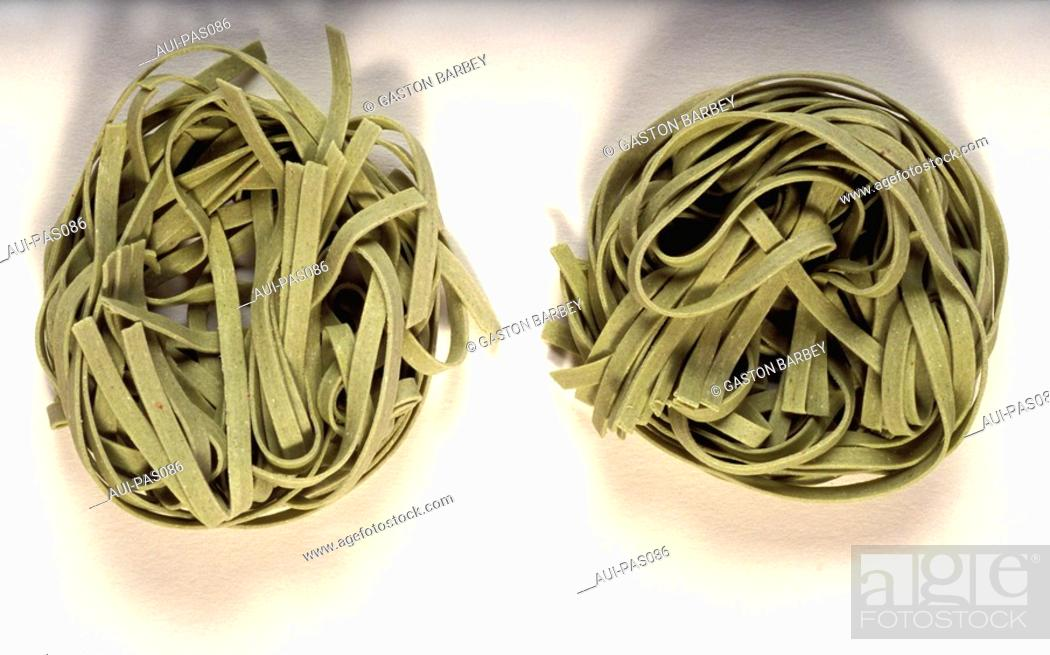 Stock Photo: Pasta - Spinach Paste.