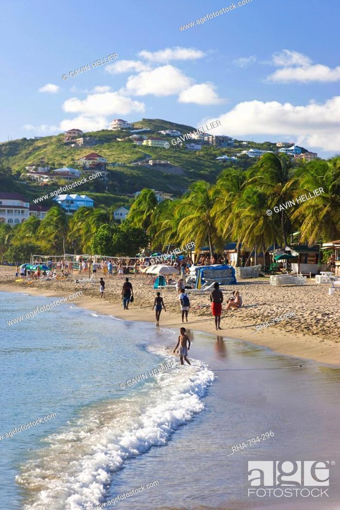 Stock Photo Frigate Bay Beach St Kitts Leeward Islands West Ins