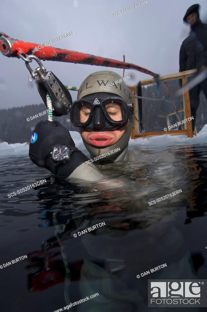 Stock Photo: Gillieume Nery world record holder warms up during the Oslo Ice Challenge 2009 Oslo, Norway.