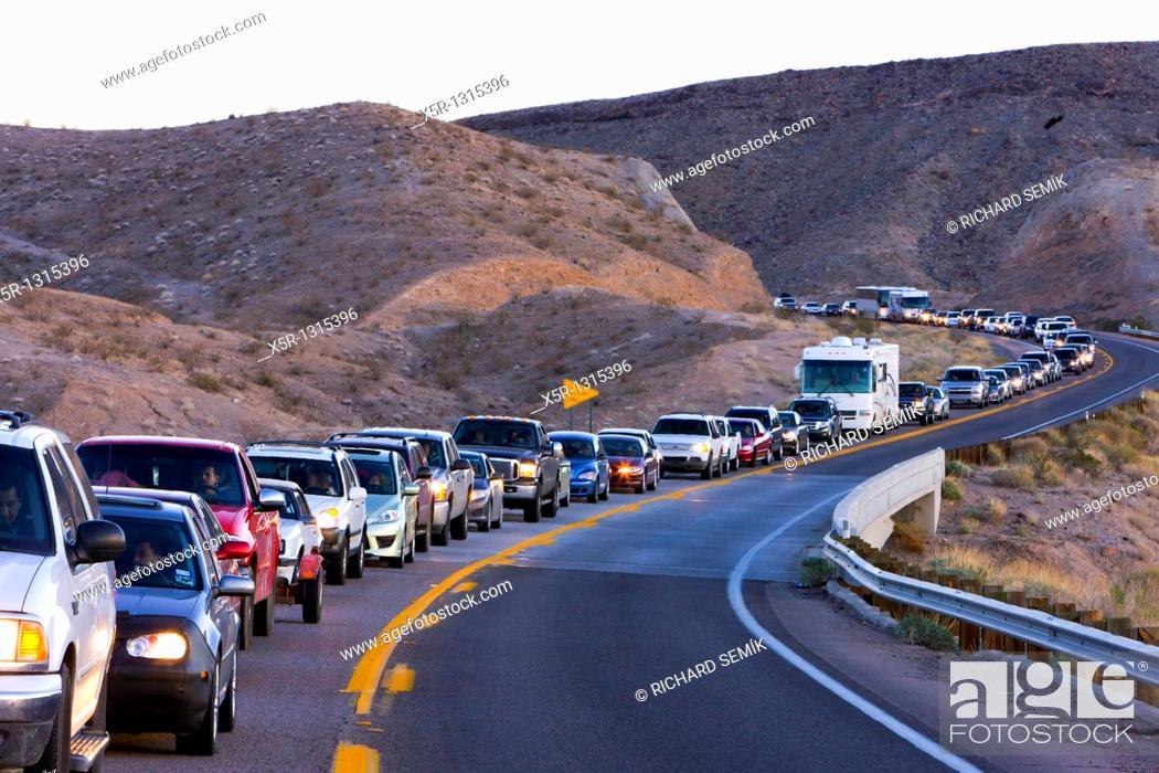 Stock Photo: traffic jam, Arizona, USA.