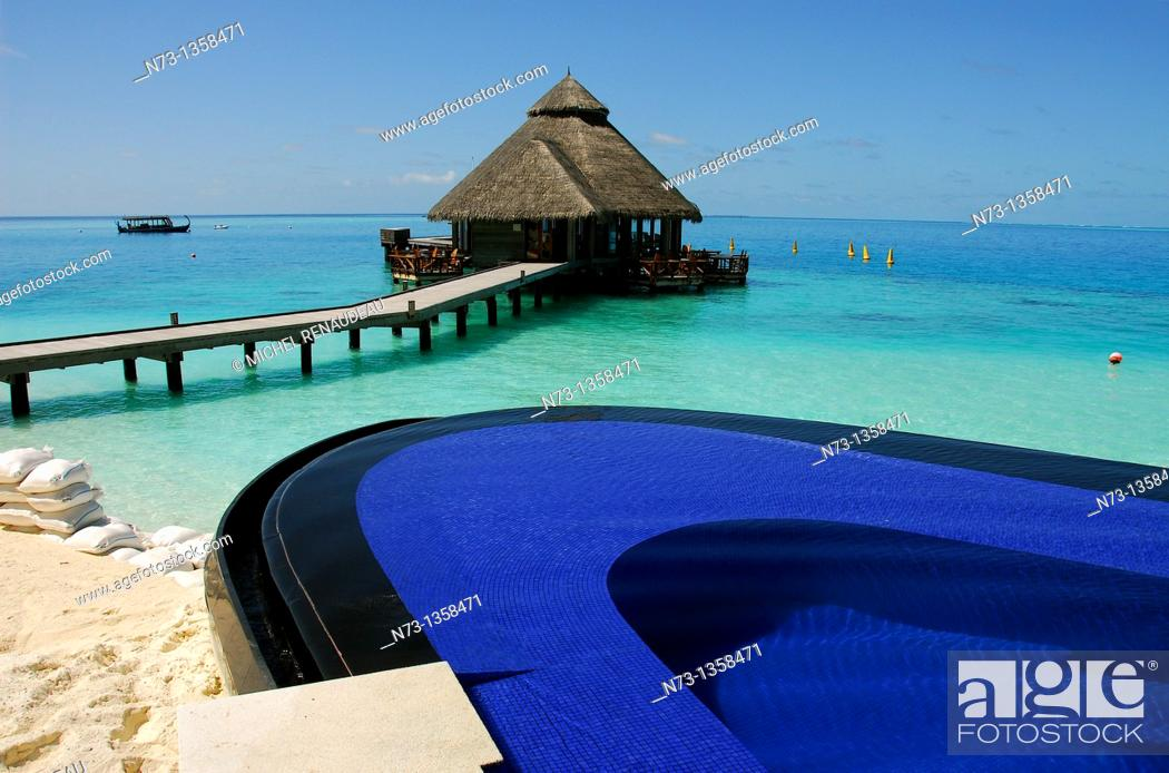 Stock Photo: Conrad Maldives Rangali Island.