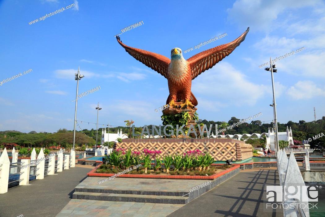 Stock Photo: Eagle Square, Langkawi Island, Malaysia.