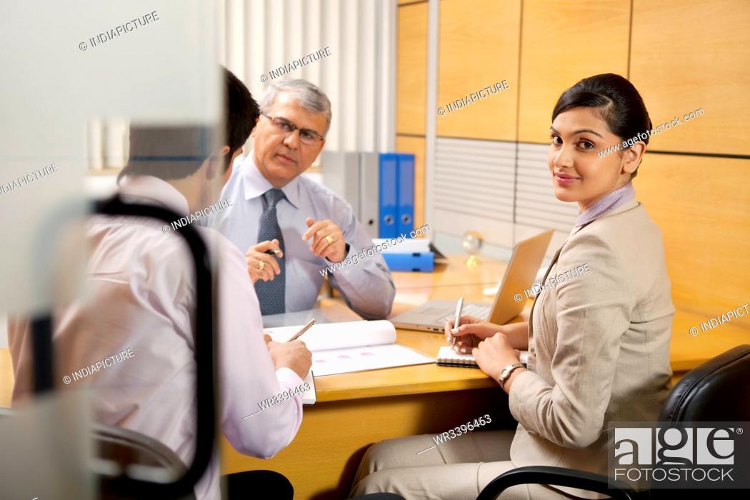 Stock Photo: Portrait of a female executive.