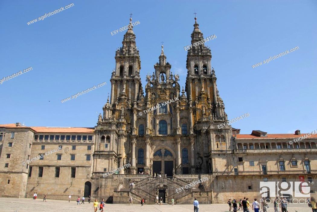 Stock Photo: Santiago di Compostela1.