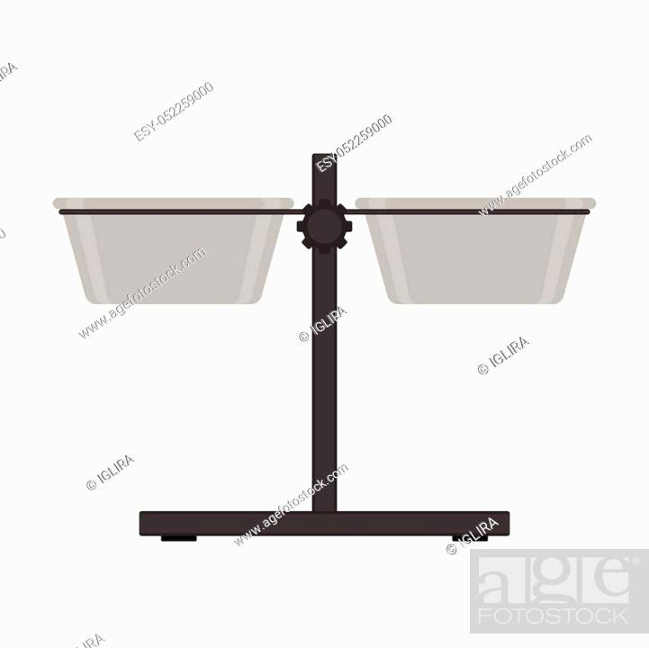 Stock Vector: Vector illustration of dog bowls on height adjustable stand. Pet equipment isolated on white background.