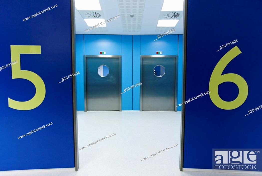 Stock Photo: Operating rooms, surgical block. Hospital Policlinica Gipuzkoa, San Sebastian, Donostia, Euskadi, Spain.