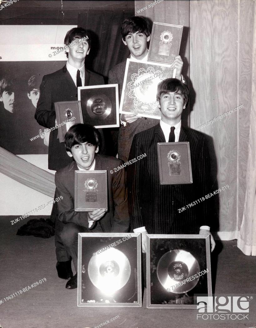 Nov 18 1963 London England U K File Photo The Beatles John Lennon George Harrison Stock Photo Picture And Rights Managed Image Pic Zuk 19631118 Bea K09 019 Agefotostock