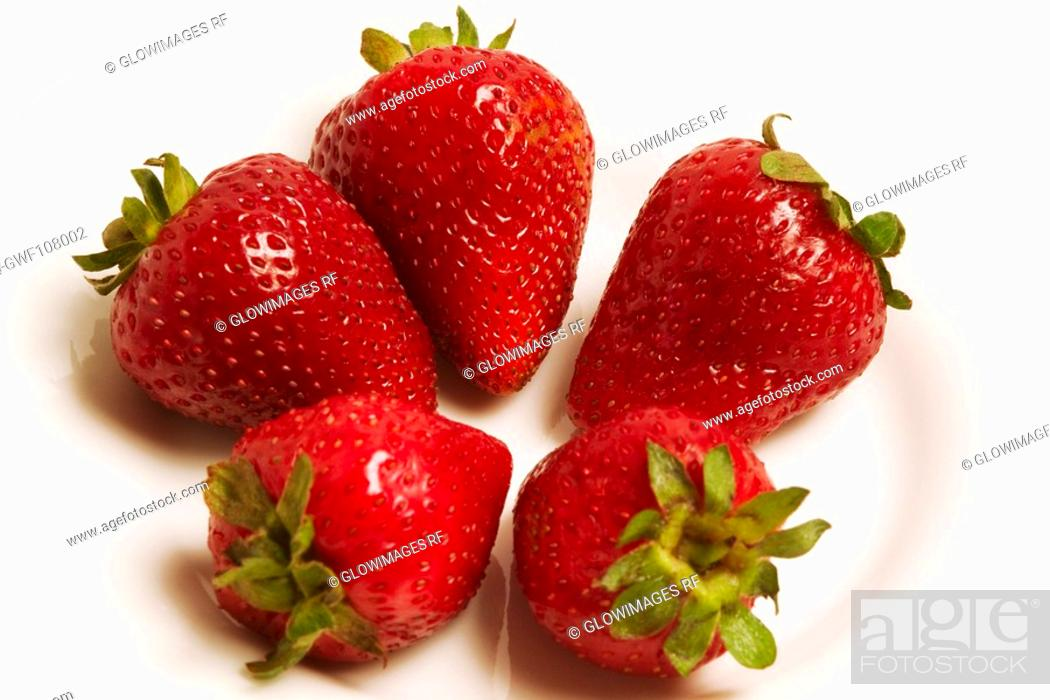 Stock Photo: Close-up of strawberries in a bowl.
