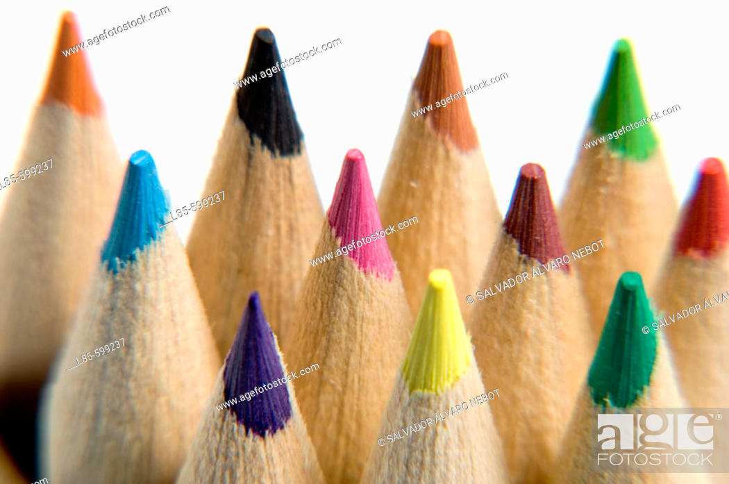 Stock Photo: Bits of colored pencils.