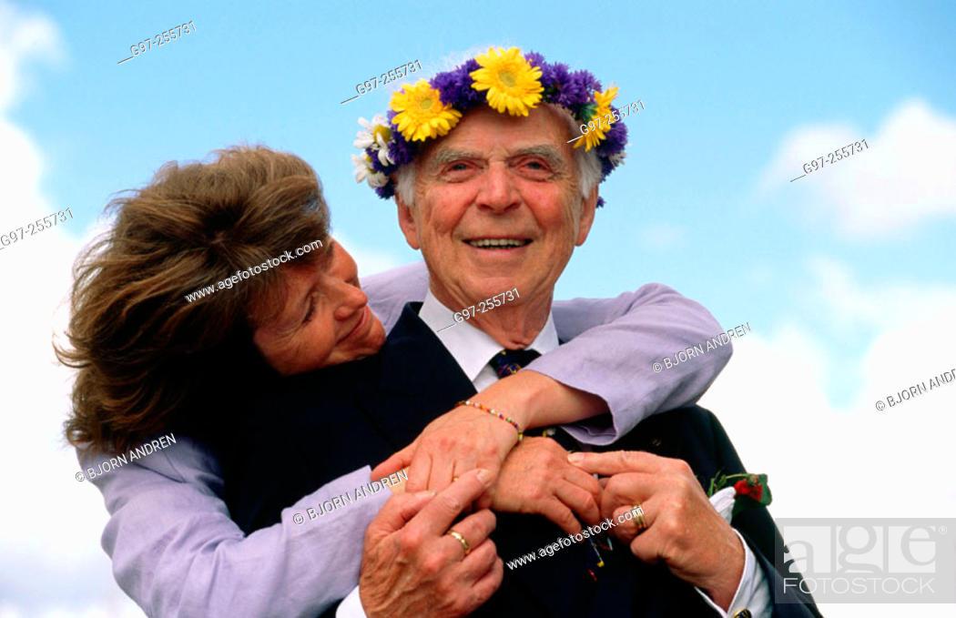 Stock Photo: Woman and elderly man.