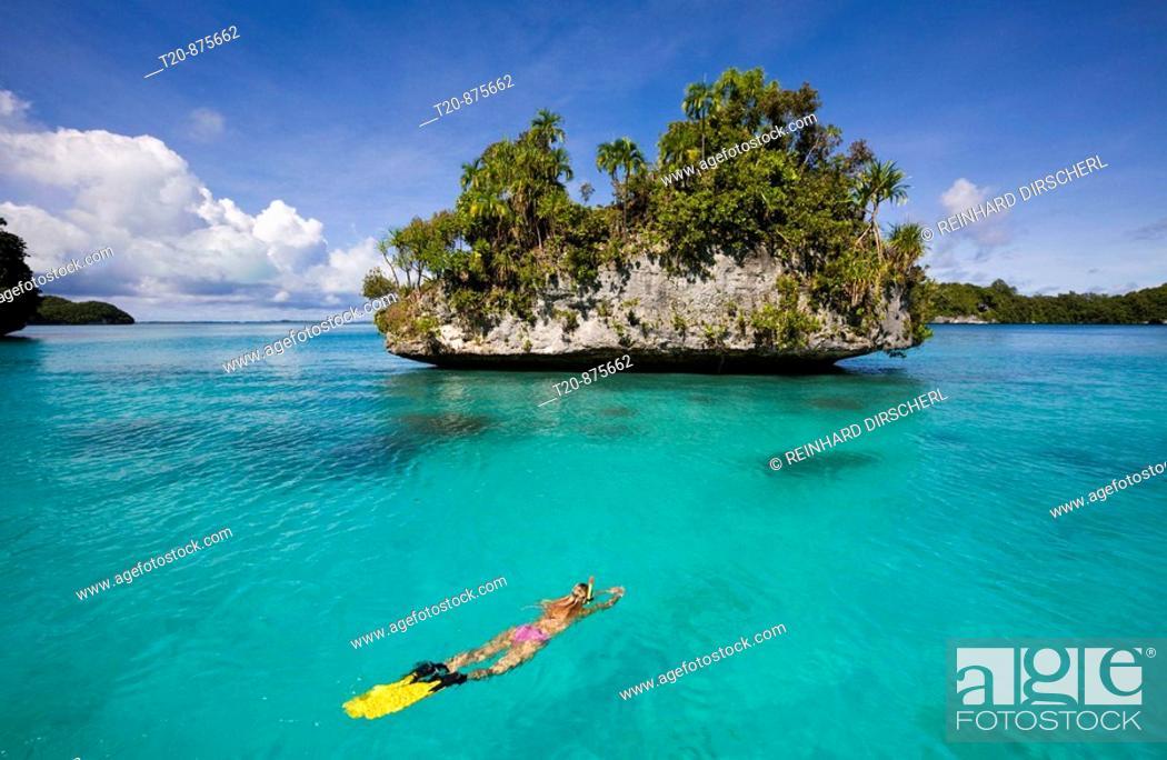 Stock Photo: Snorkeling at Islands of Palau, Micronesia, Palau.