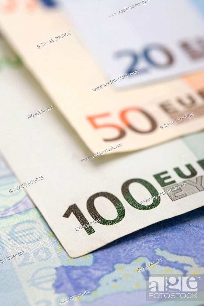 Stock Photo: Euro notes.