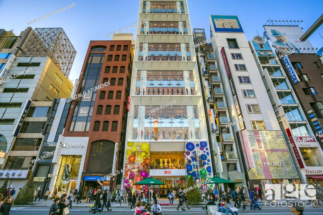 Stock Photo: Ginza dictrict, Chuo, Tokyo, Japan, Asia.