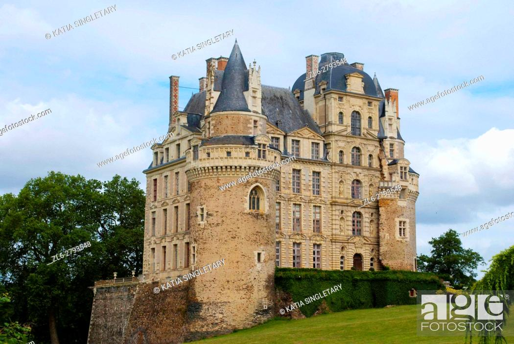 Stock Photo: The Castle of Brissac known as the tallest chateau of France, is located really in the heart of the Loire-Valley region. It wasoriginally was a medieval.