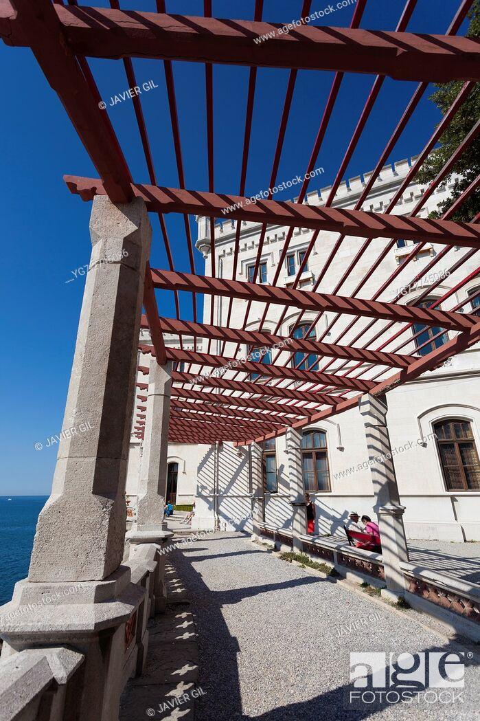 Stock Photo: Miramare castle, Trieste, Friuli-Venezia Giulia, Italy.