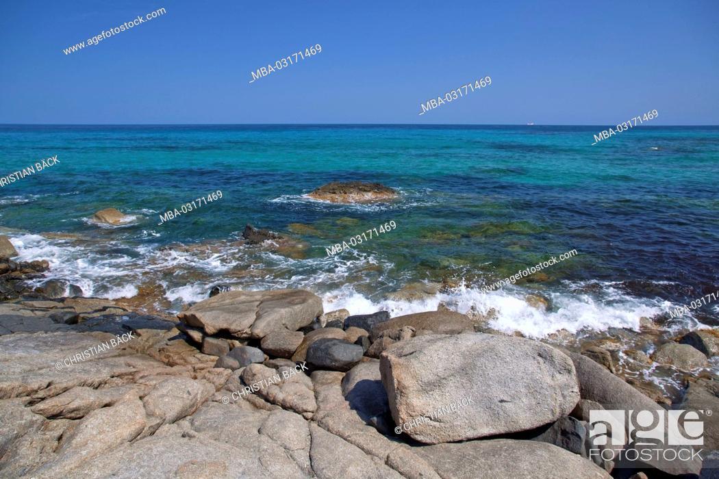 Stock Photo: Italy, Sardinia, East coast, Castiadas, Sant'Elmo, Costa Rei,.