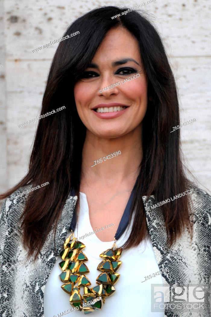 Stock Photo: Maria Grazia Cucinotta ; cucinotta ;actress ; celebrities; 2015; rome; italy; event; photocall; nomi e cognomi.